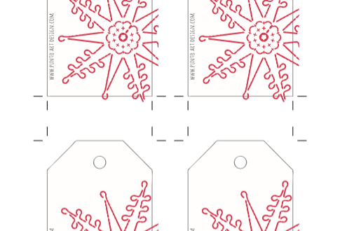 Snowflake 1 gift tag by Punto Art Design