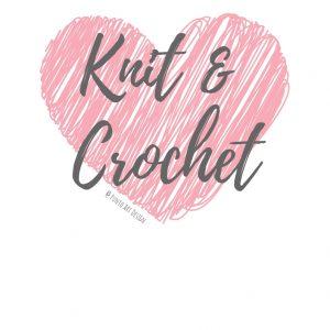 Knit & crochet pink heart