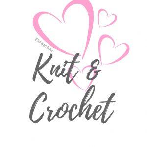 Knit & crochet pink hearts