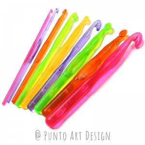Crochet hook Acrylic Punto Art Design