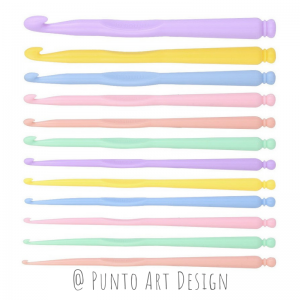 Crochet hook Plastic Punto Art Design
