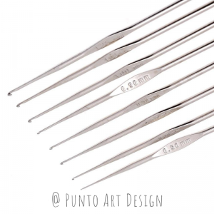 Crochet hook Steel Punto Art Design