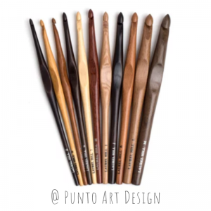 Crochet hook wooden Punto Art Design