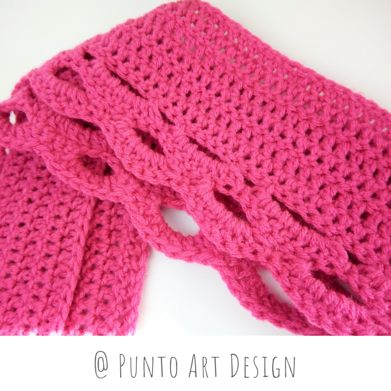 One Side Pink Scarf