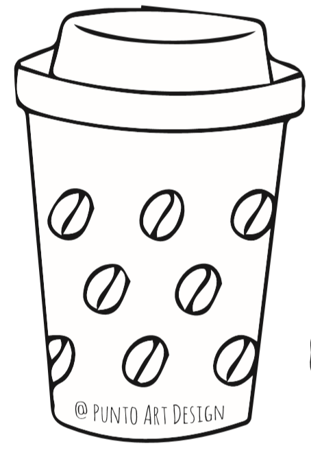 Coffee Cup Template ⋆ Free Printables ⋆ Punto Art Design