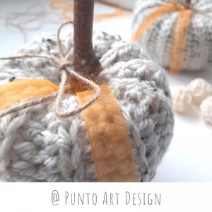 Rustic Crochet Pumpkin