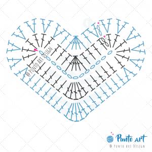 Heart Crochet Diagram 2.1