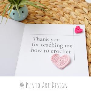 greeting crochet card